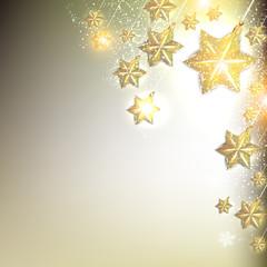 Elegant Christmas background with stars garland. Vector illustra