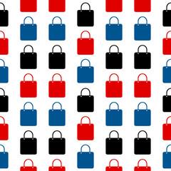 Shopping bag symbol seamless pattern