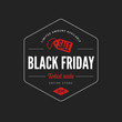 Black Friday Sale Poster design Typography vector Retro