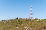 Communication tower on the top of Foia Mountain poster