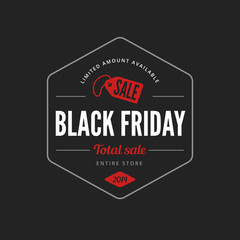 Black Friday Sale Poster design Typography vector Retro