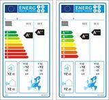 Heat pump space heaters, except low-temperature heat pumps label poster