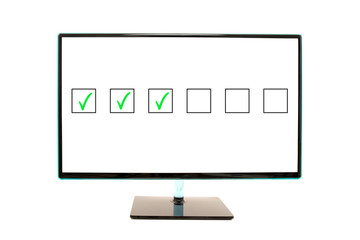 Flat Monitor Screen Flashing Check Boxes