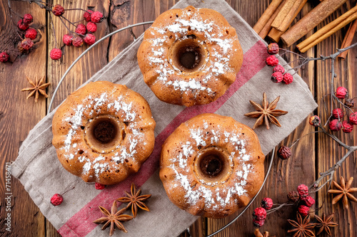 canvas print picture Christmas muffins