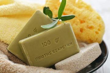 Greek olive soap