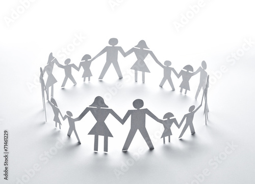 paper people community unity togetherness - 71461229