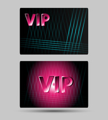 Set of abstract Vip members only cards