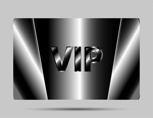 Vip cards with the black background