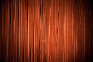 Vintage natural velvet red-brown curtain background texture