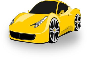 Coche deportivo amarillo