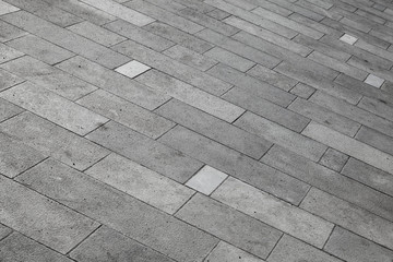 Gray tiled pavement background texture