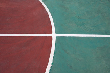 part of a basketball court close up