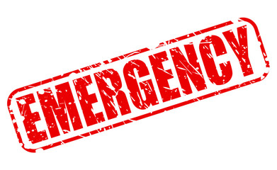Emergency red stamp text