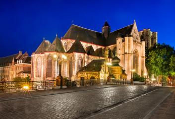 Saint Michael Church in Ghent, Belgium