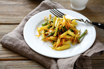 fried vegetables on a plate