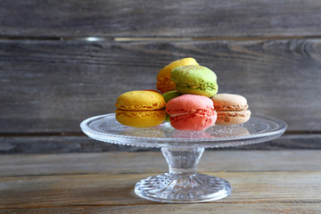 delicate and colorful macaroon