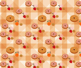 Vector of Bakery Pattern with Vanilla Background