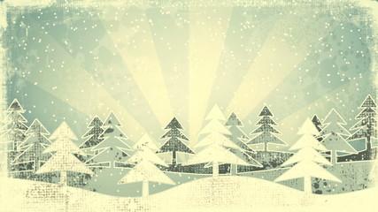 christmas winter scene grunge loopable animation