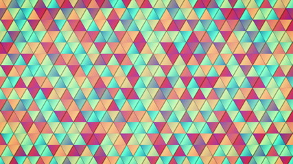 geometric pattern of colorful triangles loop