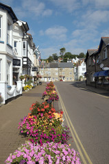 High street at Beer in South Devon