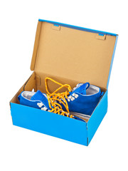 Sneakers in box