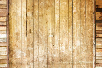 A brown wood old door