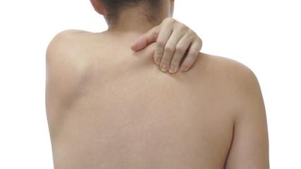 Female Massaging Shoulder Pain
