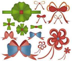 Vector of Bow Ribbon Set
