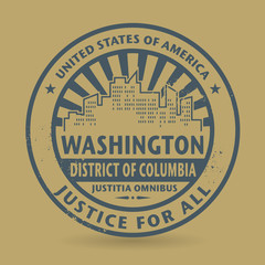 Grunge stamp with name of Washington, District of Columbia
