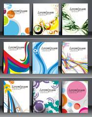 Set of flyer & poster design vector