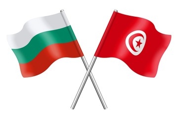 Flags: Bulgaria and Tunisia