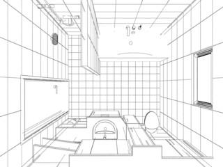 Entwurf Badezimmer