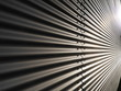 canvas print picture - corrugated metal wall