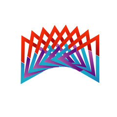 Abstract colorful logo or design element