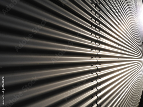 canvas print picture corrugated metal wall