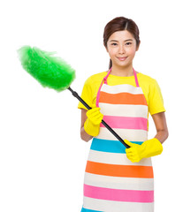 Housewife with brush