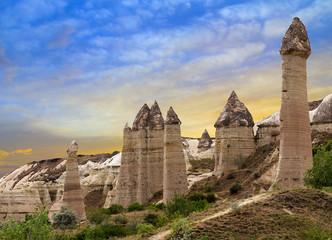 Mountain landscape Goreme Cappadocia Turkey