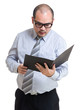 Businessman read on folder