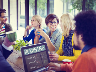 Business People Planning on a Coffee Break