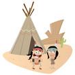 indianer lustig zelt tipi