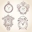 Old vintage clock set - 71468494