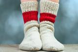 Fototapety pair of wool knitted socks