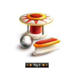 Pinball set isolated