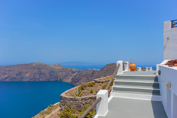 View on Oia in Santorini