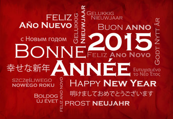 Bonne Année 2015 Nouvel An langues international illustration