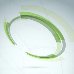 Green abstract spinning wheel element background
