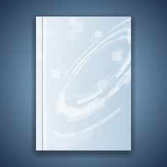 Metal blue folder template hi-tech element
