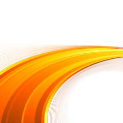 Orange power swoosh wave folder template