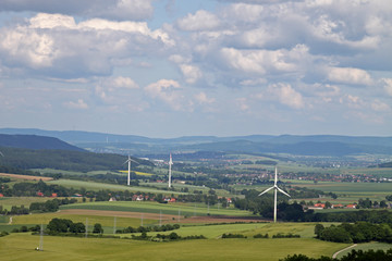 Blick vom Saalberg (Alverdissen) ins Weserbergland