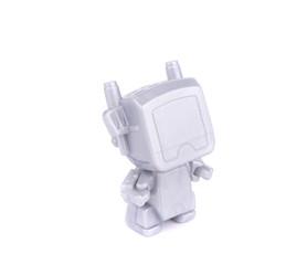 Stylish illuminated robotic toy.